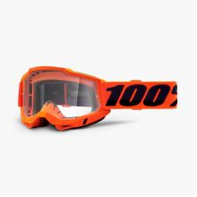 100% brýle motokrosové ACCURI 2 Goggle Orange - Clear Lens